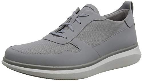 Clarks Herren Un Globe Sport Sneaker Niedrig, Grau (Grey Combi Grey Combi), 43 EU