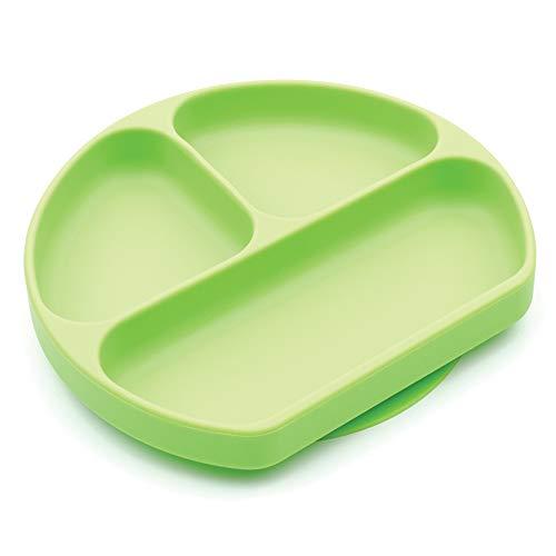 Bumkins Silikon-Teller, sicherer Stand, Grün, 5 inches