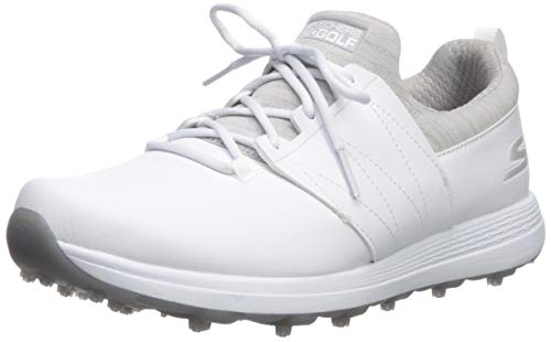 Skechers Women's Eagle Spikeless Golf Shoe, White/Gray, 9.5 M US