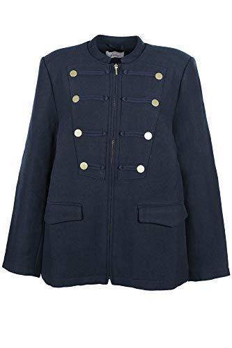 Sheego Caban Jacke Kurzmantel Parka Damen Plusgröße Übergröße Maritim Baumwolle, Farbe:Marine (Navy), Damengrößen:52