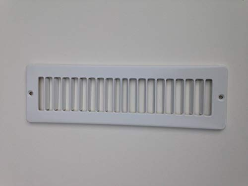 Toe Ductor Under Cabinet Heating and Cooling White Register Plate