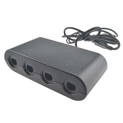 Remplacement pour Wii U commutateur USB PC 2 en Gamecube Wii 1 contrôleur 4 Ports Gamecube Noir Console Adaptateur Gamepad