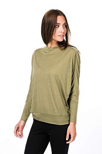 super.natural Kula Merino - Camiseta para Mujer, Mujer, SNW006570, bambú, Small