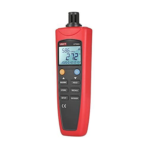 /G UT332 + Termómetro Digital Higrómetro con Punto de rocío y Temperatura de Bulbo húmedo Pantalla LCD con retroiluminación para la Industria Meteorología agrícola