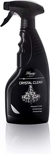 Hagerty Crystal Clean Kristallreiniger Spray 500 ml I Effektives Kronleuchter Reinigungsmittel I Reinigungs-Spray zur mühelosen Reinigung und Pflege von Leuchtern aus Kristall Glas und Metall
