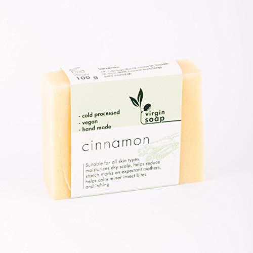 Savon 100% naturel, 70% huile d'olive vierge et huile essentielle à la cannelle. 100gr