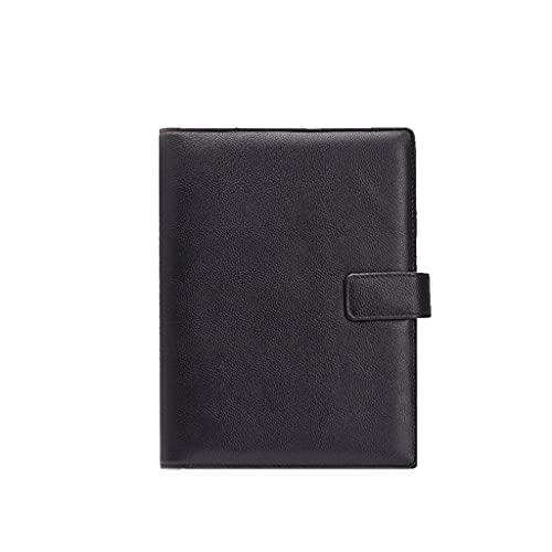 YHYH computadora portátil A5 PU Cuaderno Carpeta Llena 6 Carpeta de Anillo para Papel de Relleno, Diario Planeador Personal Cubierta de Carpeta Bloc de Notas Libro de Escritura Cuaderno de Escritorio
