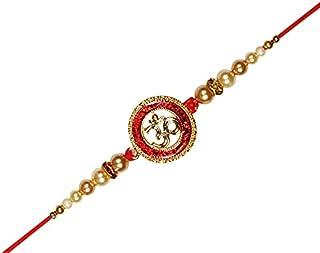 OM Premium Kundan Rakhi for Brother Raksha Bandhan Kids Rakhi Thread Bracelet Wrist bands for Loving Brother Sister