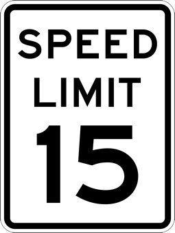 EHAKB 15-MPH Speed Limit Signs - 8  X 12  inch