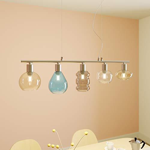 Lámpara colgante 'Tamina' (Moderno) en Transparente hecho de Vidrio e.o. para Salón & Comedor (5 llamas, E14, A++) de Lindby   lámpara colgante, lámpara colgante, lámpara, lámpara de techo, lámpara de