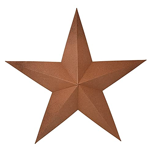 RUSTIC METAL TIN BARN STAR 24 - Rusty metal stars, texas...