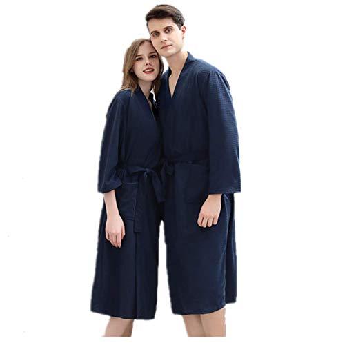 Mannen & Vrouwen Lovers Badjas Handdoek Microfiber Soft nachtkleding badjas kamerjas met Pocket voor Gym douche Spa,XL