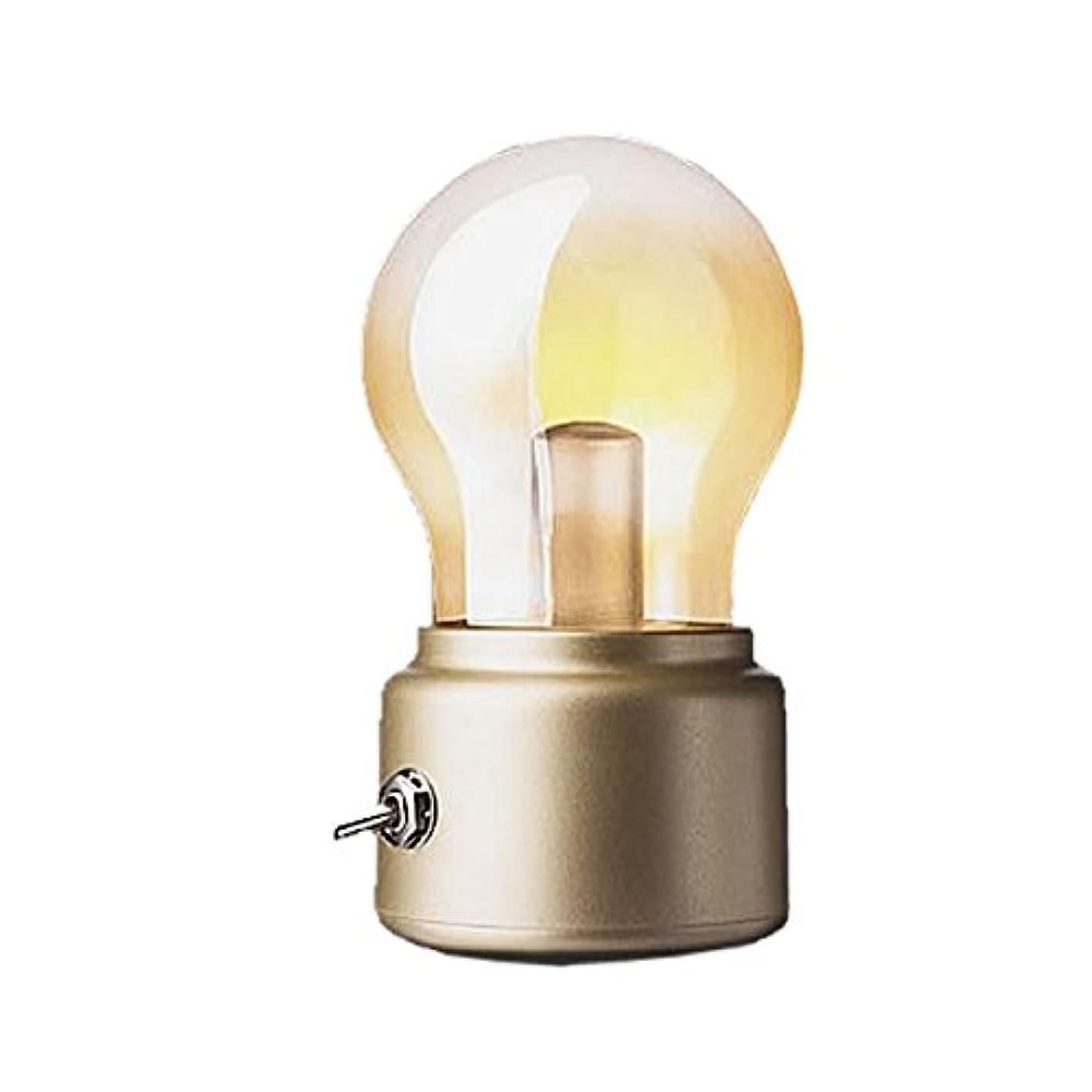 定数アソシエイト首相1stモール USB LEDライト 球灯 電球 アウトドア デスクライト ワンタッチ ブラック (ゴールド) ST-TAMAHI-GD