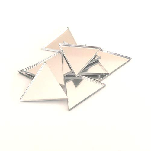 Servewell - Set di 10 specchi triangolari, in acrilico infrangibile, 10 x 5 cm