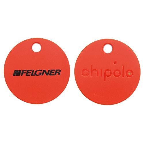Chipolo Bluetooth Schlüsselfinder Schlüsselanhänger rot im FELGNER Design - (1 Stück)