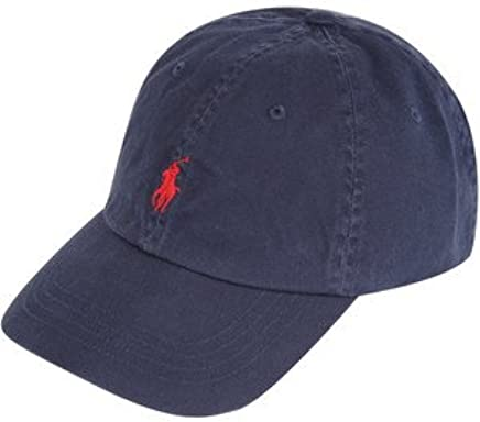 a2d1637fc Amazon.com  Polo Ralph Lauren Baseball Hat Black and Red Logo Cap  Clothing