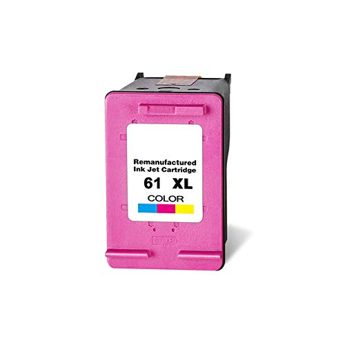 GYBN Grote capaciteit kleureninktcartridge, voor HP 61XL inktcartridge, voor hp 1011 inktcartridge, voor HP 1511 2510 2540 3510 2620 envy4500 4630 printer zwarte inktcartridge, color, Kleur