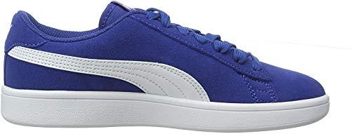 Puma Unisex-Kinder Smash v2 SD Jr Sneaker, Galaxy Blue White, 36 EU