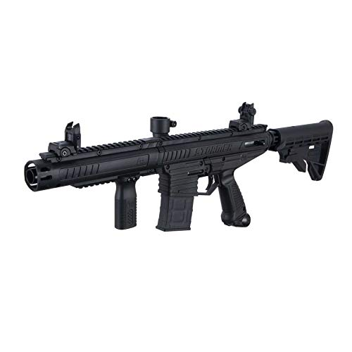 Tippmann Stormer Elite .68 Caliber Dual Fed Paintball Marker Black...