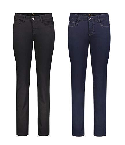 MAC Dream - 2er Pack Damen Jeans Hose Verschiedene Farbvarianten, Größe18:W38/L32, Farbe:D999+D801