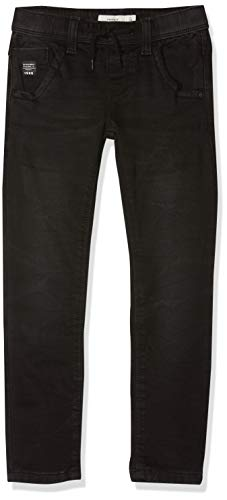NAME IT Jungen Jeans NKMROBIN DNMTOM 7080 SWE PANT NOOS Schwarz (Black Denim), 128