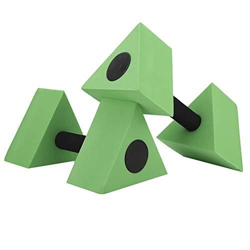 Keenso 2 Unids Triángulo Pesa Eva Pesas de Agua Pesas Piscina Ejercicio Barras de Agua Niños Natación Fitness Equipment(Verde)