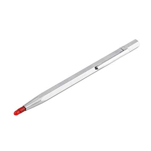 Funnyrunstore Lettering Engraver Pen YG9 aleación de acero de tungsteno Color plata portátil pluma para cerámica Metal de cristal placa de acero (Color: plata)