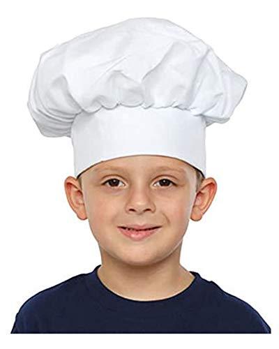 Dress Up America bianco Cappello da cuoco bambini, taglia unica, H215