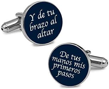 Gemelolandia   Gemelos para boda Regalo para el Padrino Azul Marino Gemelos Originales Para Camisas   Regalos Para Bodas Padrino