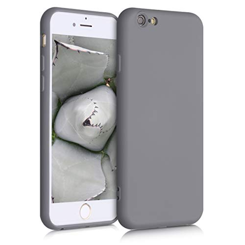 kwmobile Hülle kompatibel mit Apple iPhone 6 / 6S - Handyhülle Handy Case in Titanium Grey