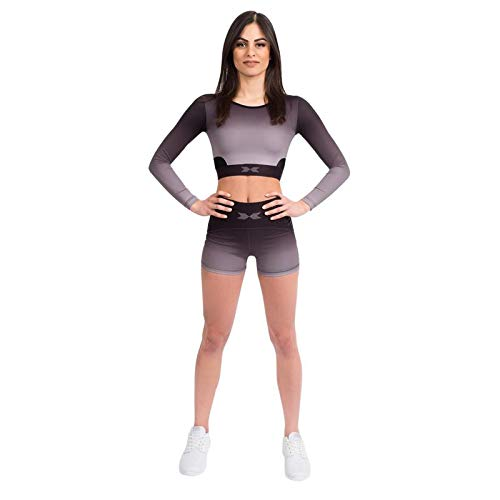 Swedish Fall Shorts Black Ombré, Damen Kurze Trainingshose - Die neusten Looks, Hohe Qualität, Top Passformen