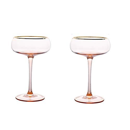 Yuansr Conjunto de 2 Gafas de cóctel 250ml cenas y Ocasiones Especiales Lavavajillas Resistente al Chip Adecuado. Muchoso. (Size : Style 2)
