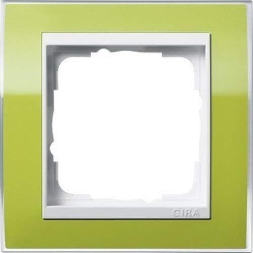 Gira Rahmen 1-Fach Event klar grün mit reinweißem Zwischenrahmen, 0211743