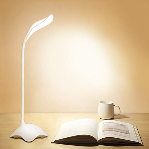YCEOT Nachtlampje 20+2 Stks Led Touch Schakelaar Bureau Lamp Met Nachtlampvoet Flexo Lezen Licht traploos Dimmen Opladen Usb Led Tafellampen