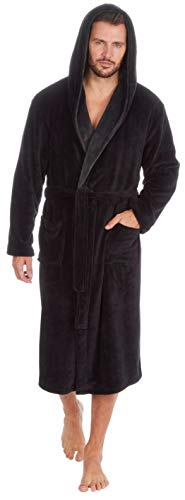 MICHAEL PAUL Albornoz liso suave con capucha para hombre