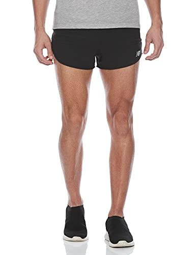 New Balance Men's Impact Run 3 Inch Split Short, Black , Medium