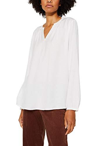ESPRIT Damen 119EE1F010 Bluse, Weiß (Off White 110), (Herstellergröße: 34)