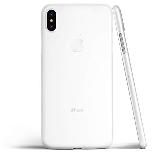 totallee Thin iPhone Xs Max Case, Thinnest Cover Ultra Slim Minimal - for Apple iPhone Xs Max (2018) (Frosted Clear)