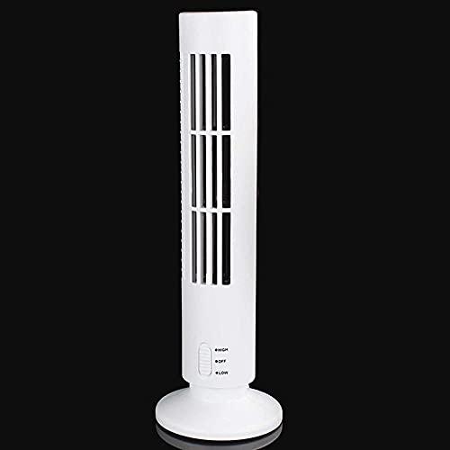 cyg Ventilador De Torre, Mini Ventilador De Columna USB Oscillating Tower Fan Silencioso Y Silencioso para Escritorios, Dormitorio Y Oficina Ventilador De Oscilación Fan (Color : B)
