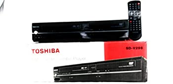 Toshiba SD-V296-K-TU Tunerless DVD/VCR Deck Player Recorder COMBO VHS & CD Player AV Cable Included No Remote
