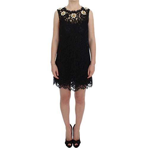 Dolce & Gabbana Kleid mit Spitze, A-Linie, Schwarz
