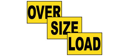 Over Size Load Label Decal, 72x12 inch Vinyl for Transportation by ComplianceSigns