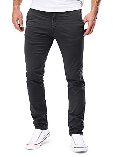 MERISH Chino Hosen Herren Slim Fit Jogger Hose Stretch Neu 401 (32-30, 401 Dunkelgrau)