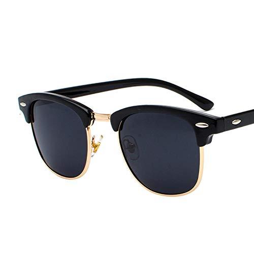 Gafas de Sol Sunglasses Gafas De Sol Polarizadas Hombres Gafas De Sol Retro para Hombres/Mujeres Gafas De Sol Hombres Sandblackgoldgray