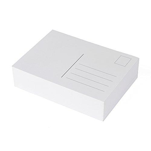 100 Blanko Postkarten weiß, Format A6, perfekt zum kreativen Basteln und zum gestalten individueller Postkarten