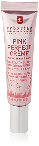 Erborian - Pink Perfect Crème - Base de Teint Eclat - Perfecteur de Peau, Effet Grain de Peau Affiné - Soin du Visage Coréen - 15ml