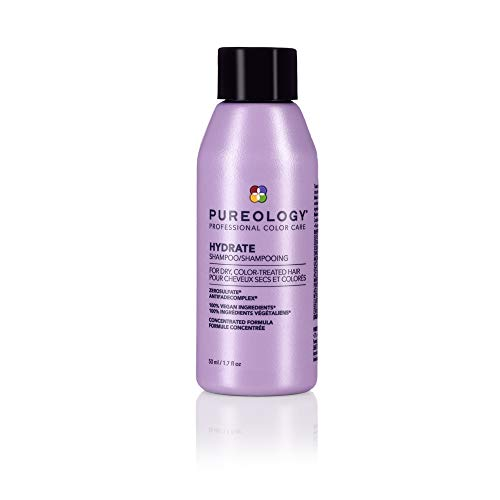 Pureology Hydrate Shampoo | For Dry, Color-Treated Hair | Hydrates & Strengthens Hair | Sulfate-Free | Vegan | Updated Packaging | 1.7 Fl. Oz |