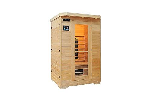 Ivar-2 Comfort Fullspektrum 2 Personen Sauna Infrarotkabine & Infrarotsauna/Infrarot Wärmekabine und viele Extras. FULL SPEKTRUM