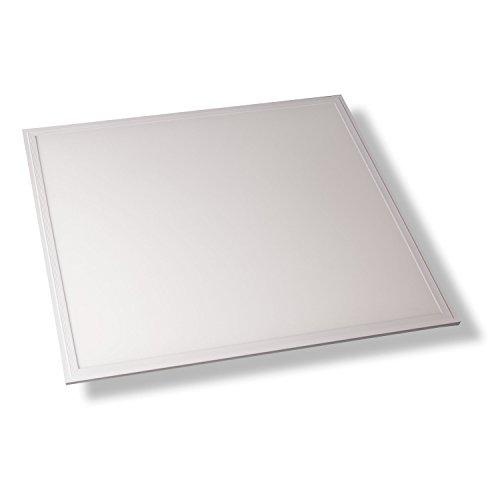 PureLed LED Panel Ultraslim BACKLIGHT 60x60cm Kaltweiß 6500K 36W 3240lm Lampe Leuchte Deckenleuchte Pendelleuchte Wandleuchte inkl. Trafo und Befestigungsmaterial: Seilsystem