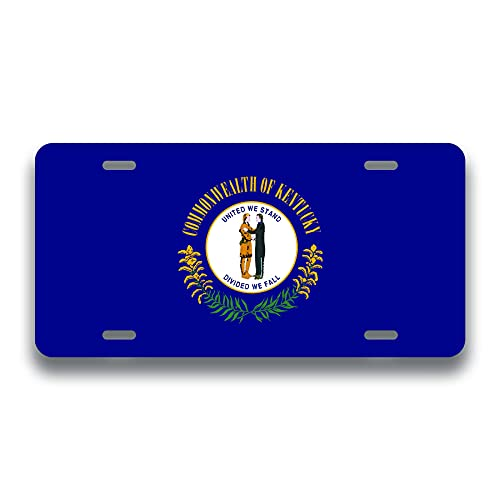 Lawenp Kentucky State Flag License Plate | Metal Novelty Vanity License Plate | Choose from All 50 US State Flags | 6 x 12 Inch Universal Tag for Cars, Trucks, Trailers STF017